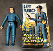 Vintage Fort Apache Fighters Captain Maddox With Box And Extra Accessories