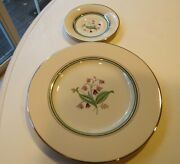 Andnbspsyracuse Corabel Platinum Trim China Old Ivory W/flowers Service For 12