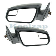 11-12 Mustang Rear View Door Mirror Power W/2 Caps - Smooth And Textured Set Pair
