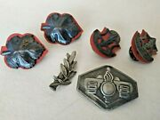 Lot Of 6 Authentic Vintage Idf Zahal Israeli Army Military Metal Pins Old Type