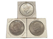 1971 Liberty Eisenhower Us One Dollar Coin Qty 3 Coins