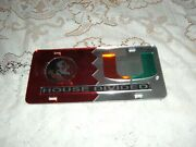 Florida State Noles /miami Canes House Divided Acrylic License Plate New Sealed