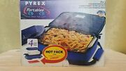 Pyrex Portables 3 Qt. 4 Pieces Insulated Food Carrier And Bowl Set Nib