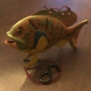 Vintage Robert Allen Francis Wood Carved Bluegill Weighted Ice Fishing Decoy Raf
