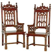 Design Toscano Gothic Tracery Cathedral Chair Set Of Two