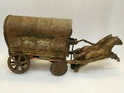 Vintage Ty Japan Horse Cart Tinplate Toy 1960 Very Rare Battrery Operated Rare