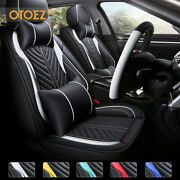 Universal Luxury Leather Car 5 Seat Covers Front Rear Interior Cushion Protector