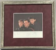 Rush Signed Color Photo Neil Peart Geddy Lee Alex Lifeson Autograph Jsa Framed