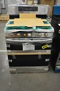 Samsung Nx58m6850ss 30 Stainless Double Oven Gas Range Nob 103622