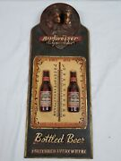 Rare Budweiser Beer Bottles Anheuser-busch Clydesdale Horses Thermometer Sign