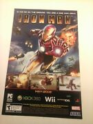 2008 Video Game Print Ad - Iron Man - Xbox 360 Wii Ds Sega Marvel Ps2 Psp Ps3