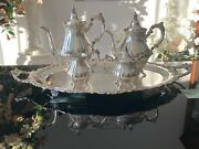 Wallace Grand Baroque Tea And Coffee Set Vintage Siverplate Set