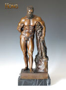 23and039and039 Art Deco Sculpture Greek Mythology Hercules Nude Man Statue