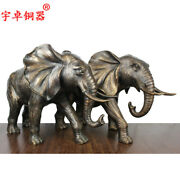 18and039and039 Art Deco Sculpture Elephant One Pair Bronze Statue
