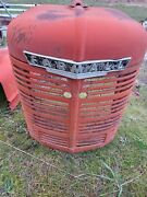 Farmall H Hv Tractor Straight Original Front Nose Cone Grill With Hood