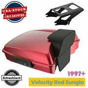 Velocity Red Sunglo Razor Tour Pack Trunk Luggage Fits Harley 97+ By Advanblack