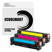 3 Cmy Toner Replace For Hp Ce321a 128a Color Laserjet Cp1526nw Cm1416 Cm1412fn