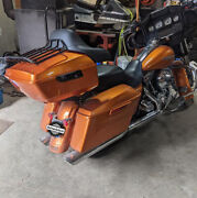 Advanblack Amber Whiskey King Tour Pack Trunk Luggage For 1997+ Harley Touring