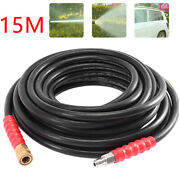 50ft Brass 5800psi Replacement High Pressure Washer Hose Tube 3/8 Quick Connect