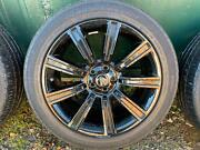 21 Range Rover Style 9001 Alloy Wheels And Tyres Gloss Black Used