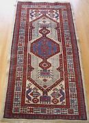 3and039 X 6and039 Antique Kurdish Tribal Hand Knotted Wool Veg Dyes Runner Oriental Rug