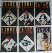 6 Kabuki Comics 1-5 + Gallery Fear The Reaper Variant Signed By David Mack
