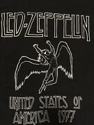 Vintage Led Zeppelin Shirt 1977 American Tour Icarus Brand New Never Worn Large