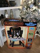 Black + Decker Jr. Mega Power N' Play Workbench With Realistic Sounds 52 Tools
