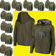 2019 Menand039s Sweatshirt Olive Salute To Service Sideline Therma Hoodie Coat