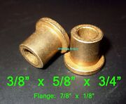 3/8 X 5/8 X 3/4 Flanged Oilite Bronze Bushing Bearing Spacers Free Ship