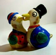 Vintage Kissing Ducks Salt And Pepper Holders, 3 1/2 Inches High, Made In Japan