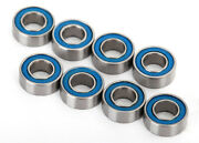 Tra7019r 4x8x3mm Blue Rubber Sealed Ball Bearings 8 Udr