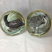 Franklin Mint Water Birds Of The World Porcelain Collectors Plates Set Of 12