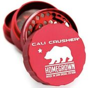 Cali Crusher 2.35andrdquo Homegrown 4 Piece Herb Grinder- Red