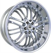 4 G23 20x10 Inch Chrome Rims Fits Nissan Rogue Select S 2014 - 2015