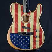 Fender American Acoustasonic American Flag Telecaster Limited Edition Us207816a