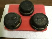 Lot Of 3 Vintage Solid Brass Buick Grease Cap Hubcap 20-30andrsquos Old Cool
