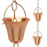 Marrgon Copper Rain Chain – Decorative Chimes And Cups Replace Gutter Downspout...