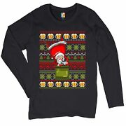 Santa Claus Keg Stand Womenand039s Long Sleeve T-shirt Christmas Ugly Sweater Beer