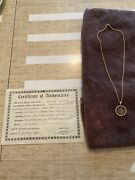 1667 France Silver 1/12 Anne Marie Louise Coin 14k Gold Necklace Certificate