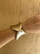 Antique Gold Silver Ombrandeacute Tone Signed Grosse 1968 Germany Cuff Bangle Vintage