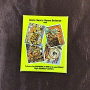 1986 Fantasy Trade Card Co. - Lot Of 6 Uncle Sam's Home Defense Series