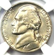1964 Jefferson Nickel 5c Coin - Ngc Ms66 5fs - Rare Full Steps - 600 Value