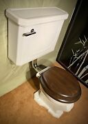Art Deco Vintage Toilet Restored Wall Mounted