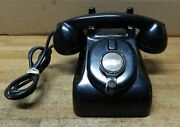 Antique Leich Hand Crank Telephone Early Non Dial Desk Top Phone For Display