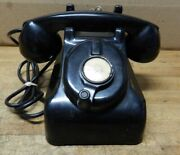 Antique Leich Hand Crank Telephone Early Non Dial Desk Top Phone For Display 669