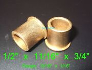 1/2 X 11/16 X 3/4 Flanged Oilite Bronze Bushing Bearing Spacers Free Ship