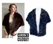 Vintage Brown Mink Stole Shawl Wrap J.n. Adam And Co Vtg 40and039s