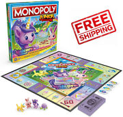 Monopoly Junior Game Unicorn Edition Board Game For Kids Indoor Quick-playing