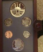 1984 United States Olympic Coin Prestige Set 6 Proof Coins 90 Silver Dollar